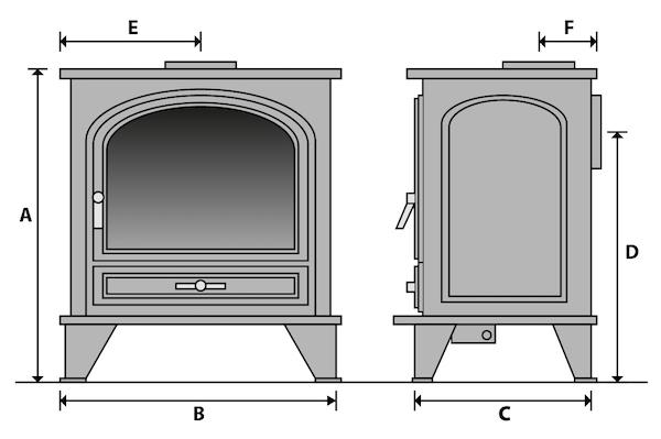 Stove dimensions