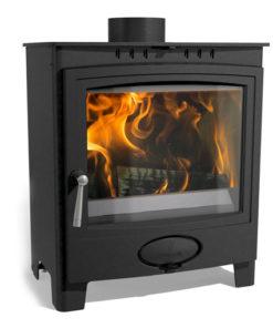 Arada Ecoburn Plus 5 Widescreen DEFRA Approved Multi-fuel stove
