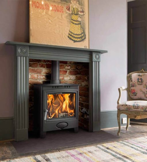 Arada Ecoburn Plus 5 Widescreen DEFRA Approved Multi-fuel in room